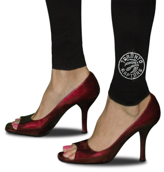 Official New Toronto Raptors Rhinestone Leggings