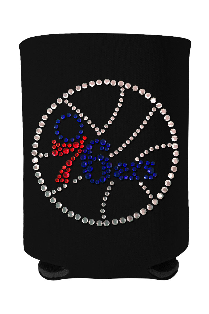 Buy One GET One FREE - 76ers Rhinestone Logo Can Cooler