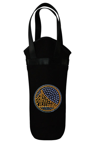 Golden State Warriors Rhinestone Logo Wine Tote
