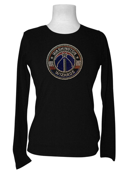 Official Washington Wizards Rhinestone Long Sleeve Tee