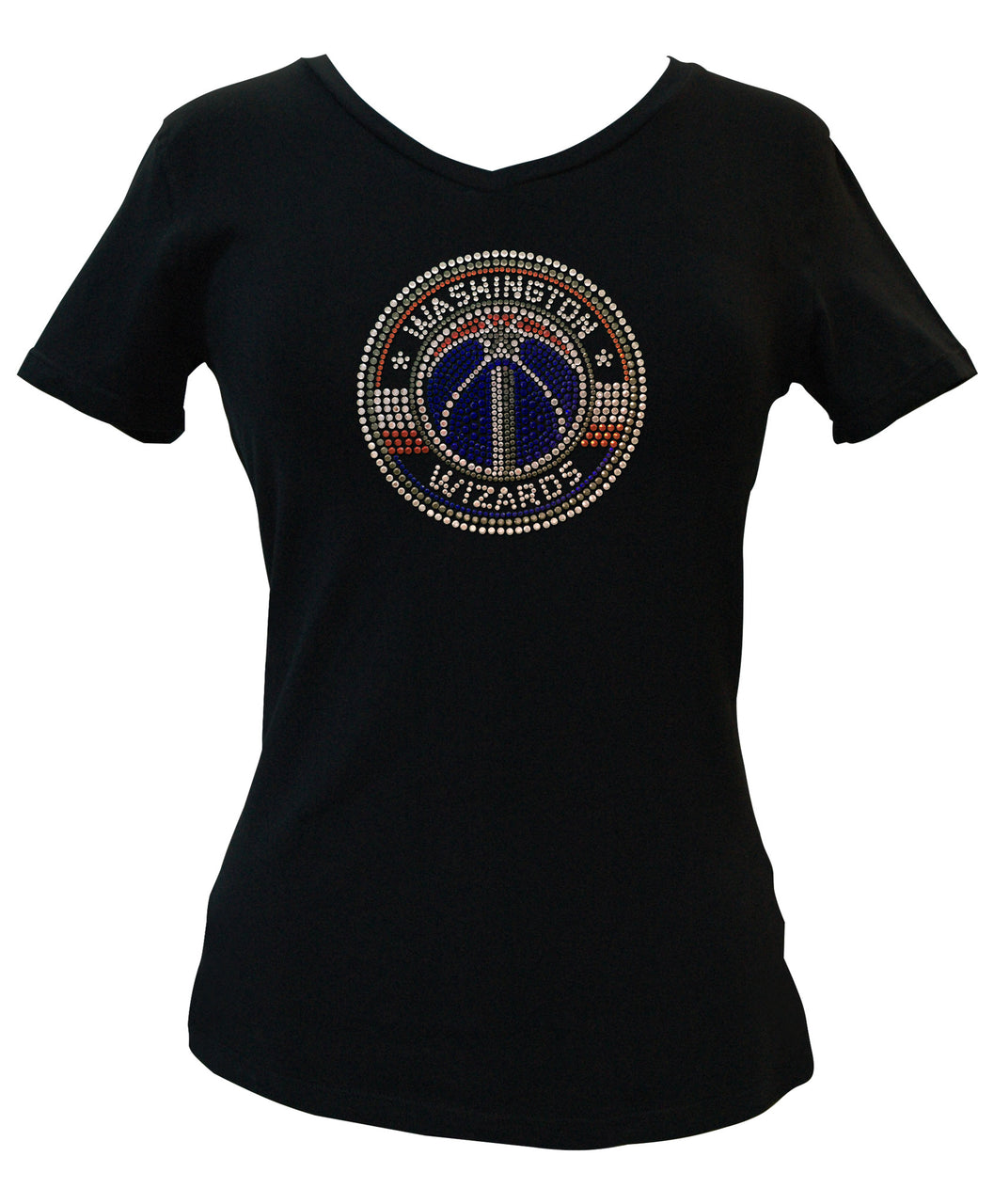 Official Washington Wizards Rhinestone V-Neck Tee