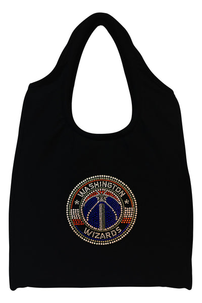 Washington Wizards Full-Size Rhinestone Logo Tote Bag