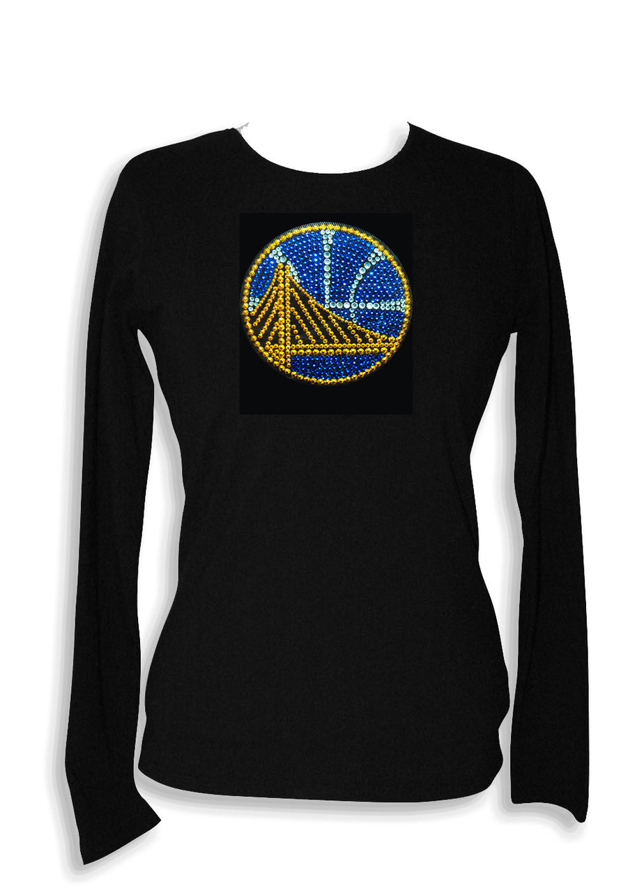 Official Golden State Warriors Rhinestone Long Sleeve Tee