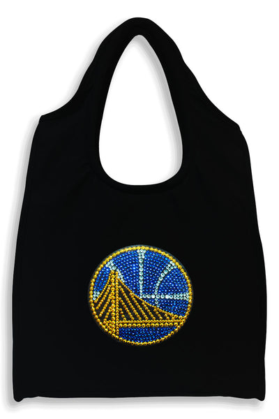 Golden State Warriors Full-Size Rhinestone Logo Tote Bag