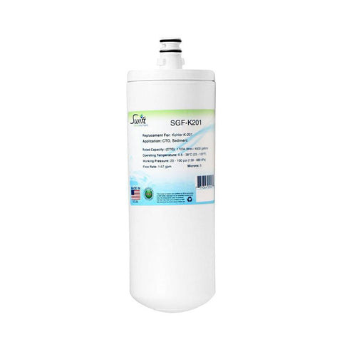 Replacement for Kohler K-201 Water Filter by Swift Green Filters SGF-K201 - The Filters Club