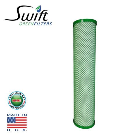 "Swift (SGFB20CYST) Replaces Filtrex FXB20CYST 20""x 4.5"" CYST Green Block Carbon Filter 1 Micron - The Filters Club"