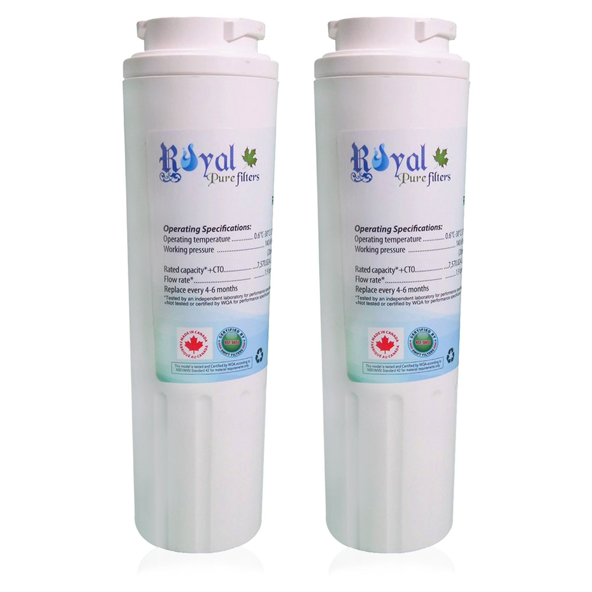 EveryDrop EDR4RXD1, Maytag Ukf8001 & Whirlpool 4396395 Compatible CTO Refrigerator Water Filter 2 paCK