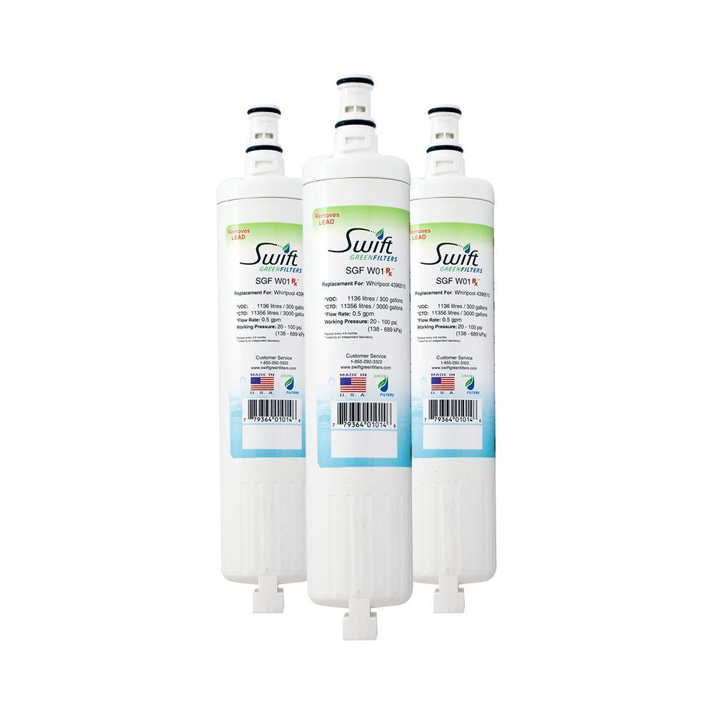 Replacement Whirlpool 4396508 4396510 EDR5RXD1 Refrigerator Water Filter SGF-W01 RX - The Filters Club