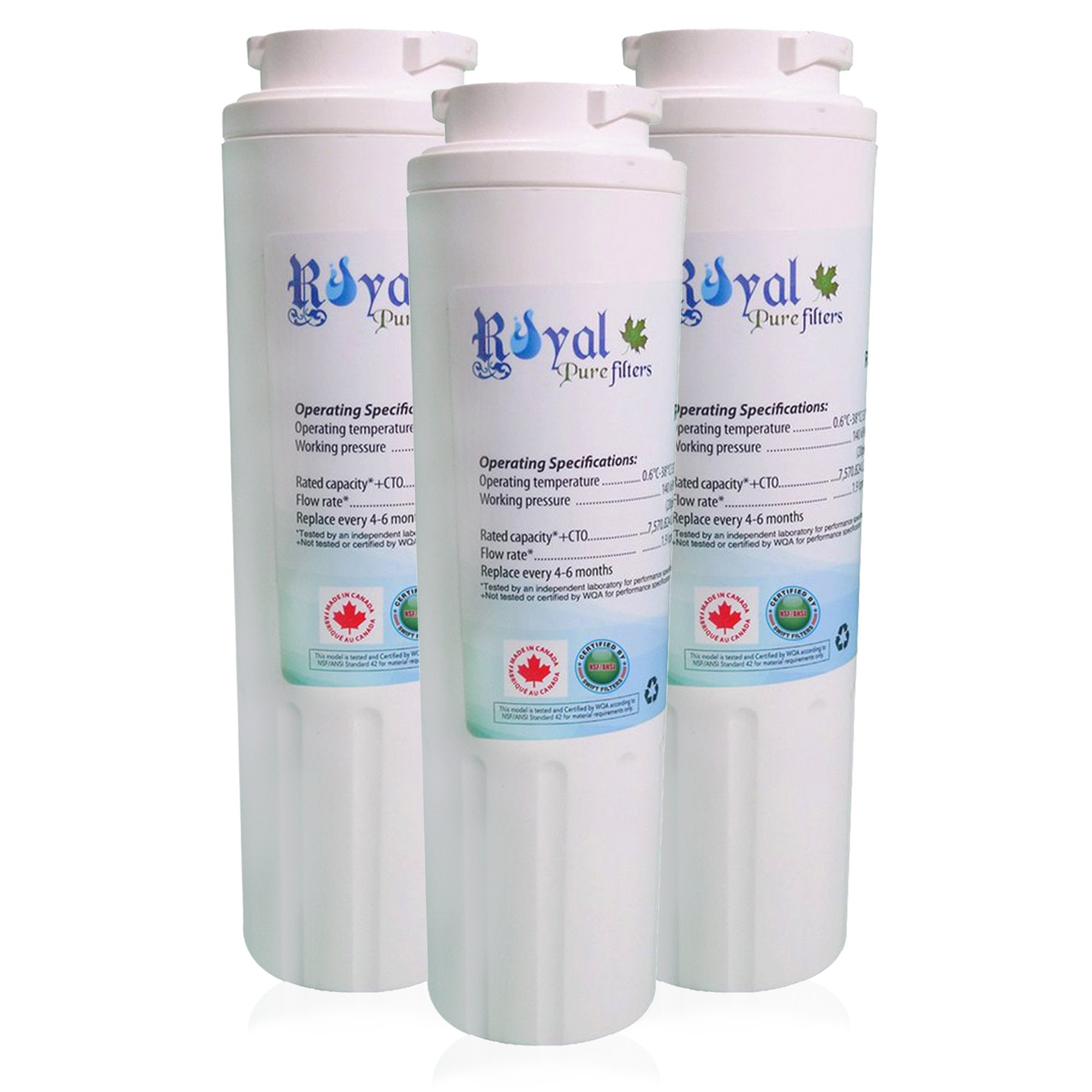 EveryDrop EDR4RXD1, Maytag Ukf8001 & Whirlpool 4396395 Compatible CTO Refrigerator Water Filter 3 PACK