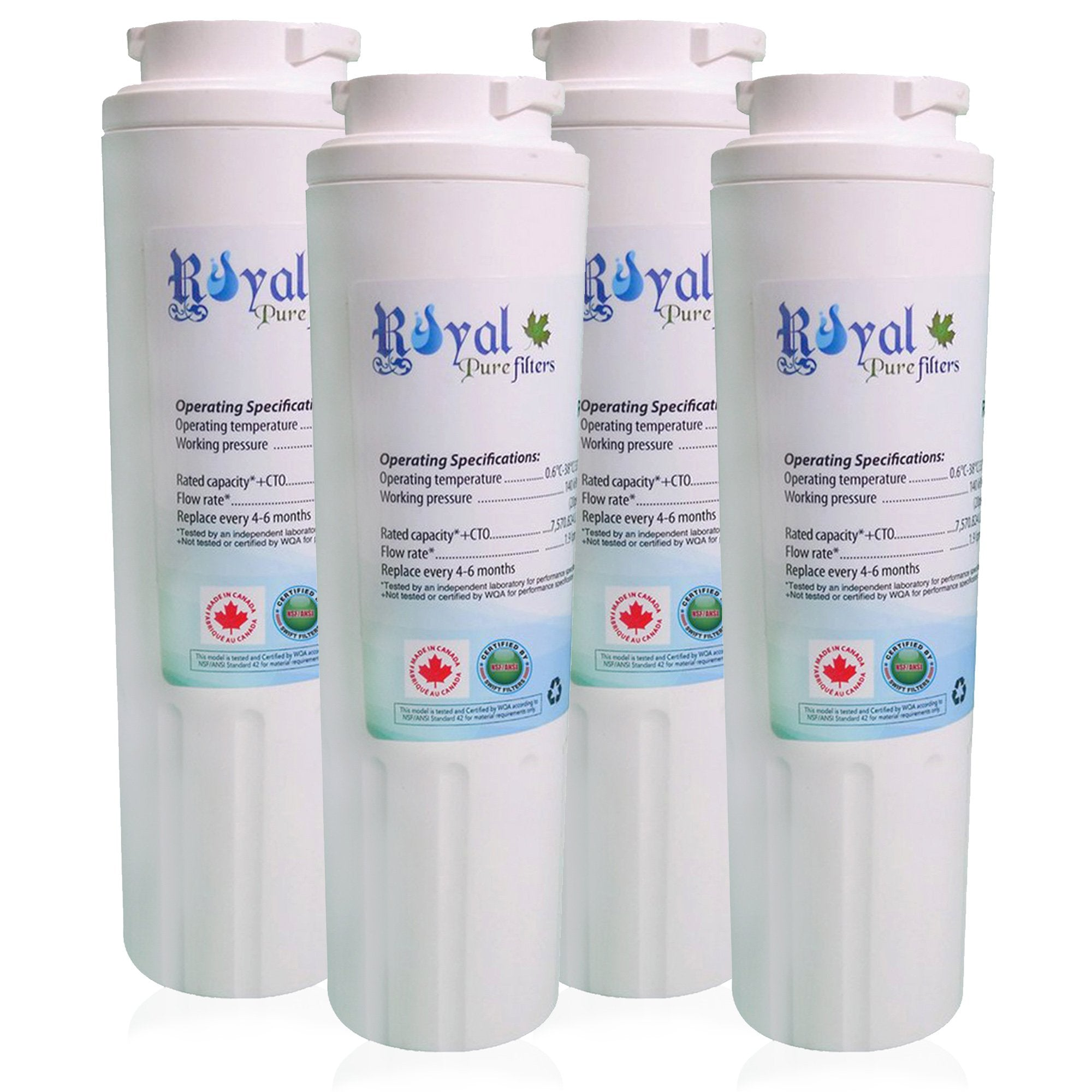 EveryDrop EDR4RXD1, Maytag Ukf8001 & Whirlpool 4396395 Compatible CTO Refrigerator Water Filter 4 PACK