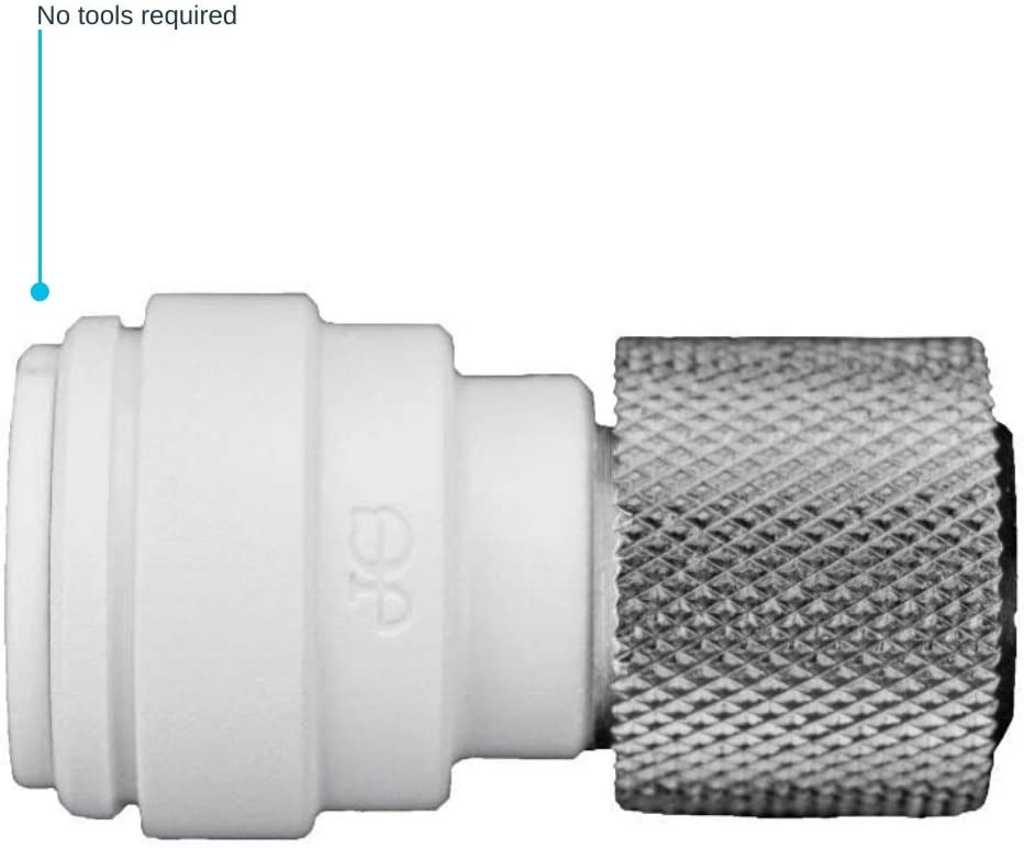 John Guest Speedfit PSEI6012U9 Push-fit Female Connector Reducing Coupling, 3/8 OD x 9/16 UNEF, 10-Pack