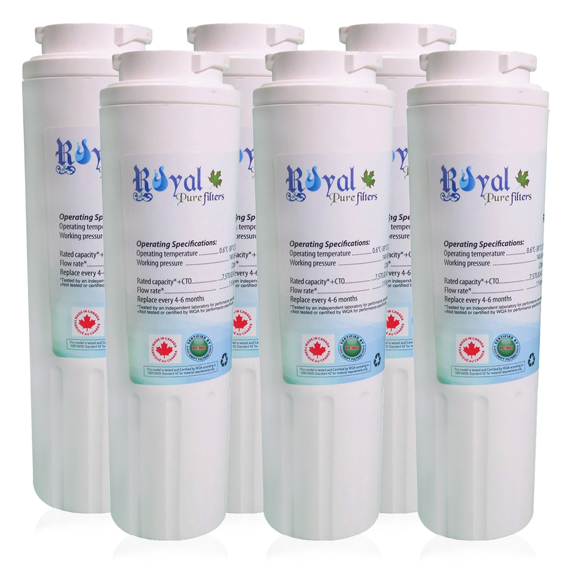 EveryDrop EDR4RXD1, Maytag Ukf8001 & Whirlpool 4396395 Compatible CTO Refrigerator Water Filter 6 pack