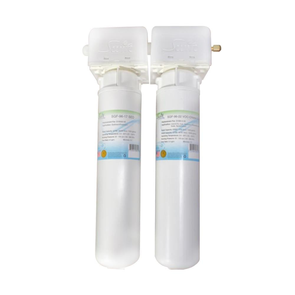 SGF3-14-MAX-RX-2 (Double Candle System) Multi stage Under the Sink System with ultra high Capacity,Direct Connect Fittings-Removes Pharmaceutical ,VOC, Chlorine,Arsenic, Lead,Heavy metals,CTO and Sediment - The Filters Club