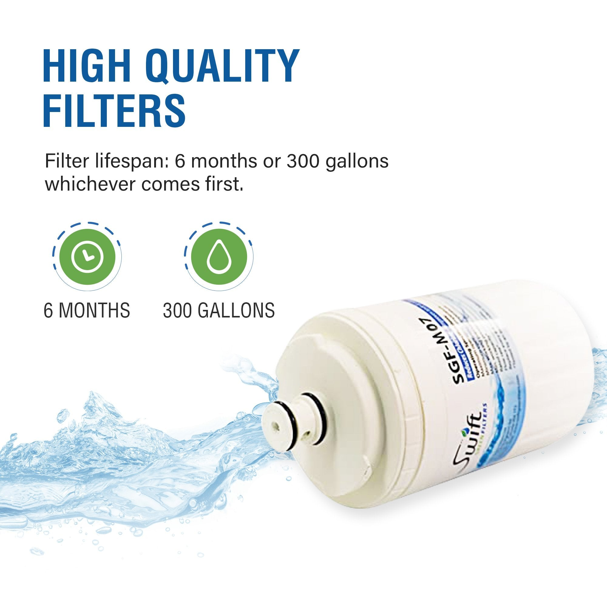 Everydrop EDR7D1 (Filter 7) & Maytag UKF7002/3 Compatible VOC Refrigerator Water Filter