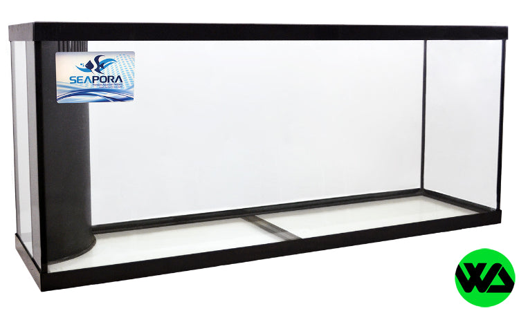 Seapora - 55 gallon drilled reef ready aquarium 48x13x20