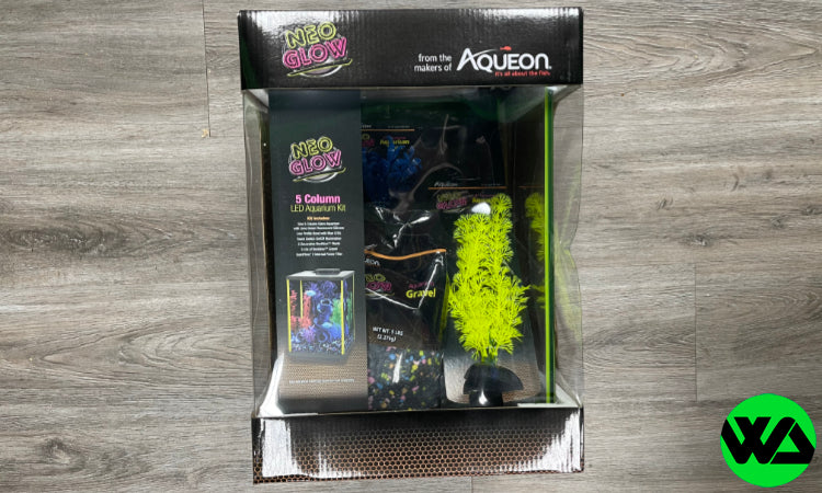 Aqueon - NeoGlow LED Aquarium Kit - Column - Lime Green - 5 gal