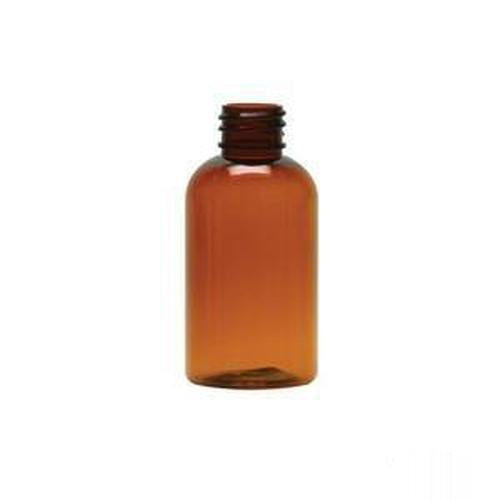 2 Oz Amber Boston Round Bottle