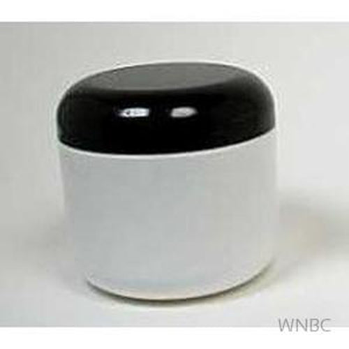 4 Oz White Double Wall Jars with Black Lid