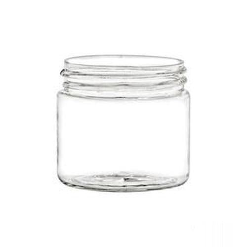 2 Oz Single Wall Clear Jar with Black Lid 25 Count