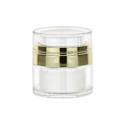 Gold Acrylic Jar & Lid 30 ML