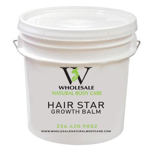 Hair Star Growth Balm  4 Oz Each Pre-Packed In  White Jars Gold Tops