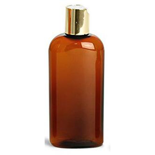 Amber 4 Oz Bullet Bottle with Gold 20/410 Top