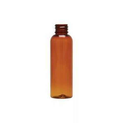 2 Oz. Amber PET Cosmo Round Bottle- 48 Count