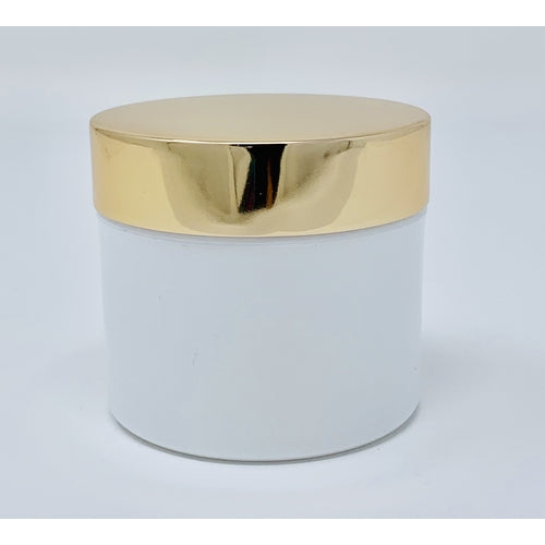 Gold Top & White 2 Oz Jar - 12 Pack