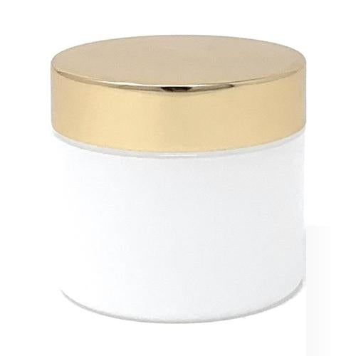 2 Oz Frosted Jar with Gold Lid