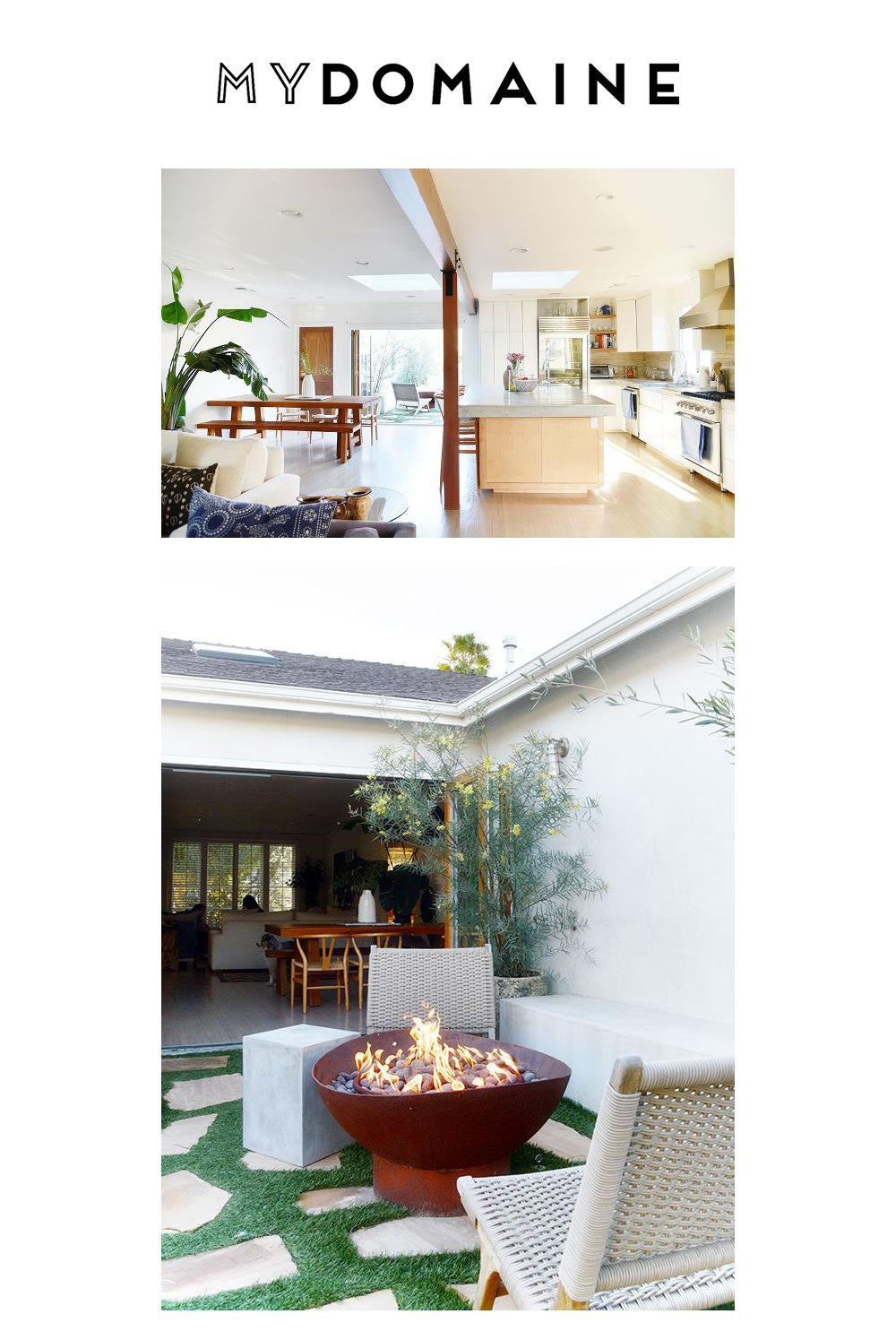THE HOME OF MONROW'S CO-FOUNDER, MICHELLE WENKE, FEATURED ON MYDOMAINE