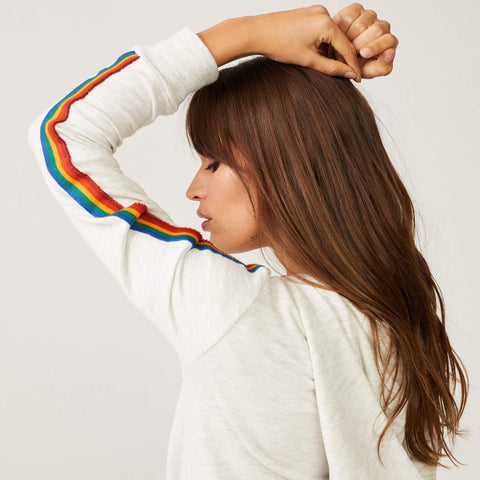 Supersoft Rainbow Stripe Hoody