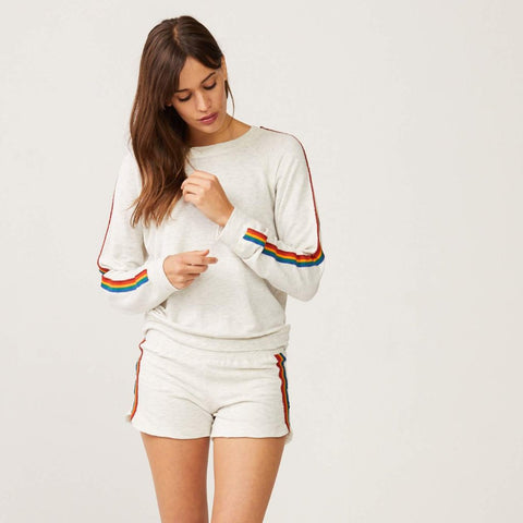 Supersoft Rainbow Stripe Shorts