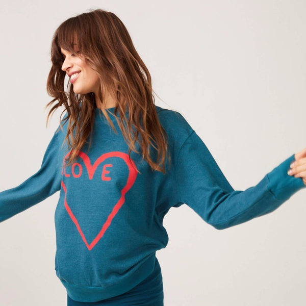 High Neck Love Sweatshirt