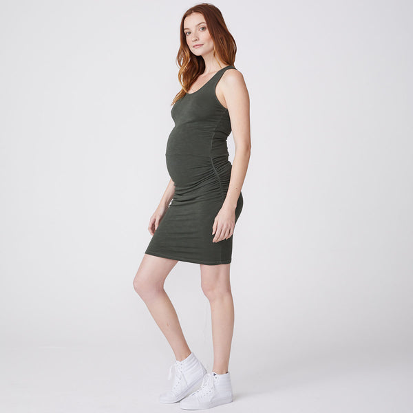 Supersoft Maternity Tank Shirred Dress