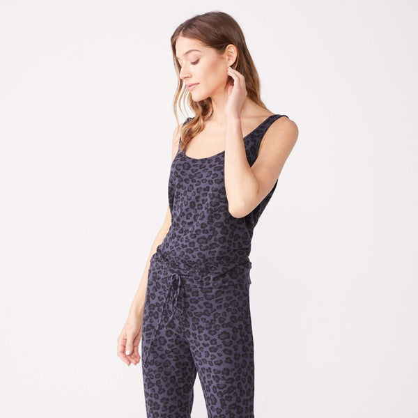 Supersoft Leopard Tank Jumpsuit