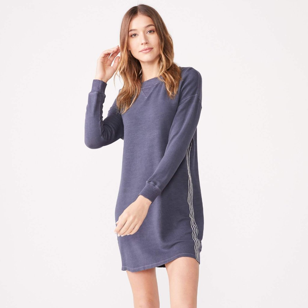 Supersoft Contrast Stitch Sweatshirt Dress