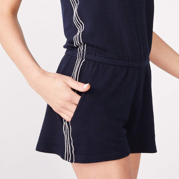 Supersoft Contrast Stitch Tank Romper
