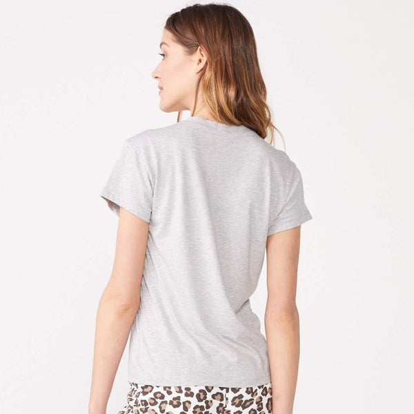 Oversized Leopard Print Relaxed Basic Crew