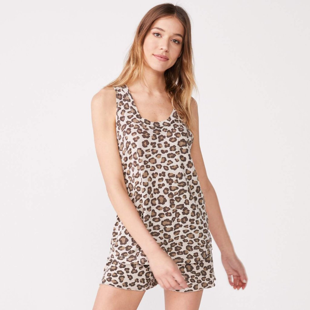 Leopard Oversized Narrow Tank