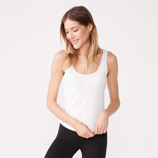Contrast Scoop Neck Tank