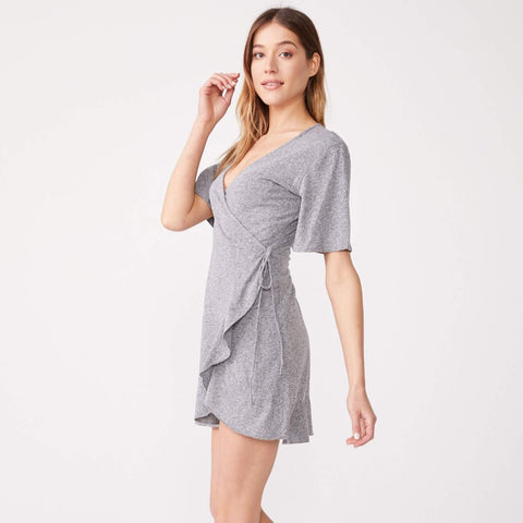 Mini Wrapped Ruffle Dress (1650792300646)