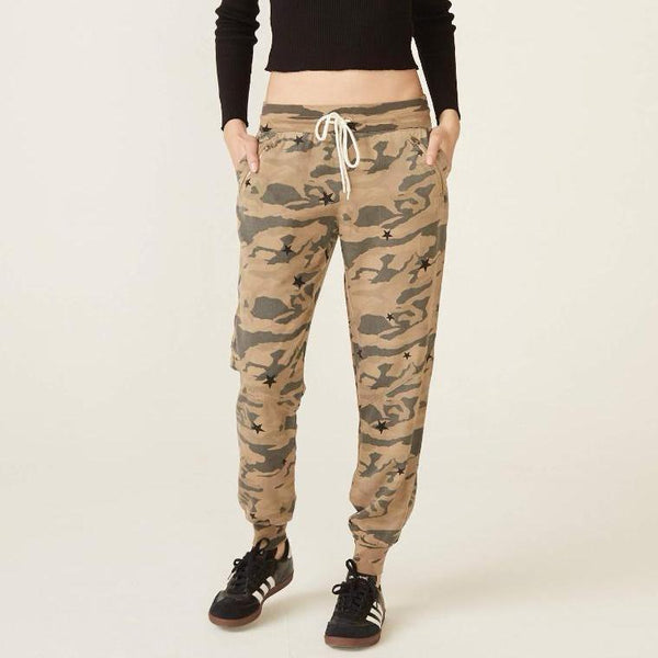 Camo Seam Detailed Sweats with Stardust