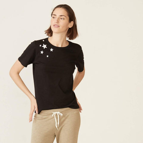 Embroidered Star Crew