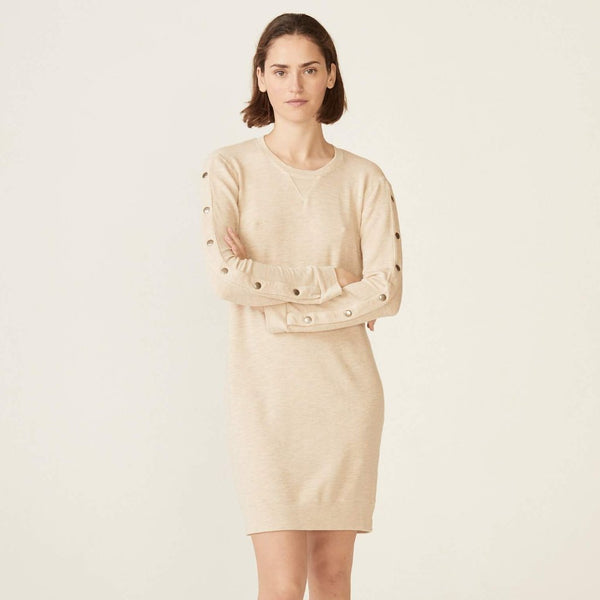Supersoft Snap Sweatshirt Dress