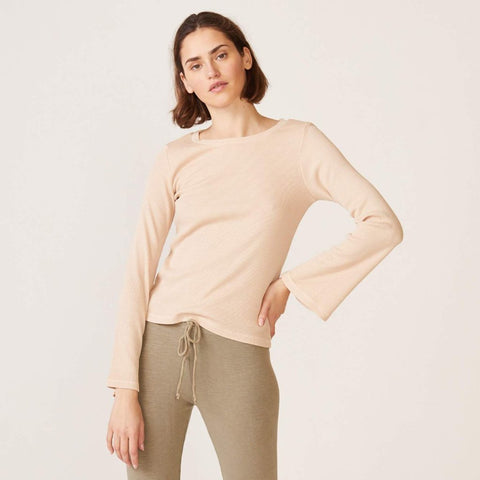 Bell Sleeve Rib Top