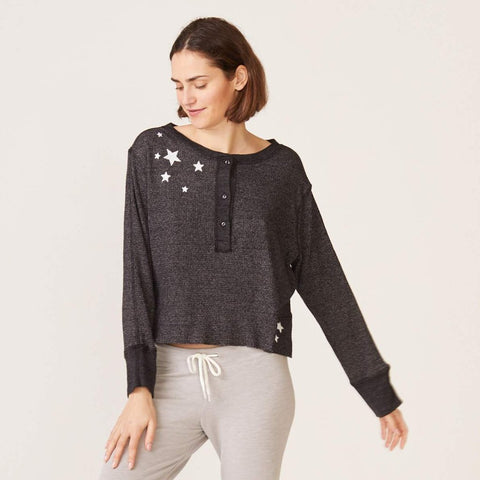 Embroidered Star Henley