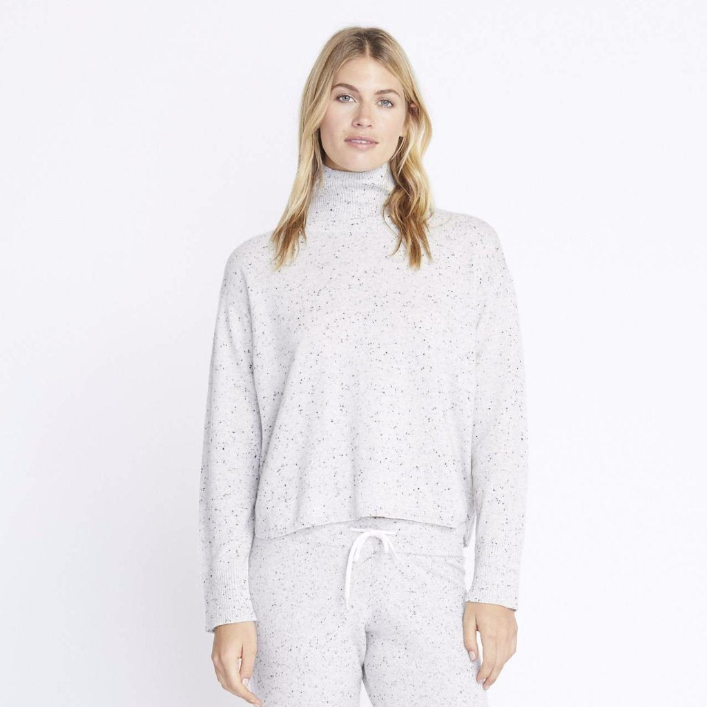 Speckled Cashmere Turtleneck