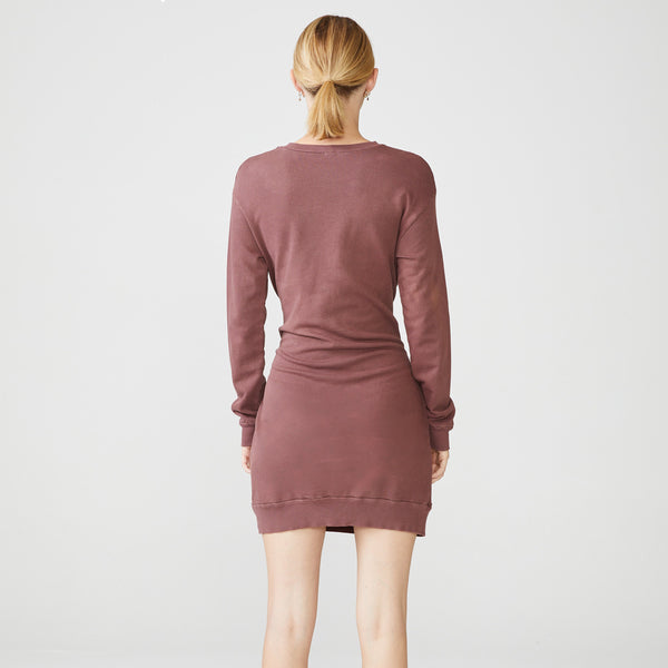 Long Sleeve Dress With Front Tie