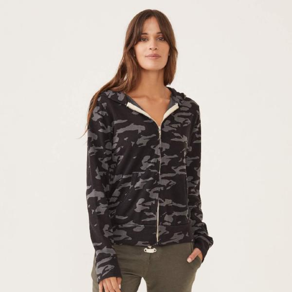 Camo Zip Up Hoody