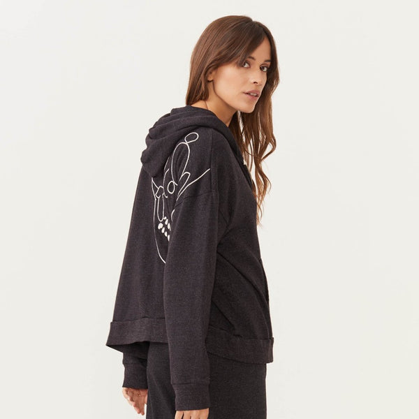 Oversized Skull Zip Up